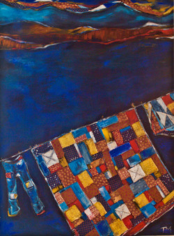 """""""patchwork and clothesline"""" $1100"""