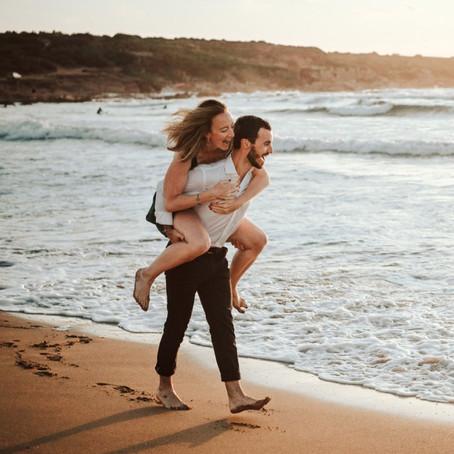Couple Photo Shoot Sardinia vacations, Porto Ferro beach Alghero