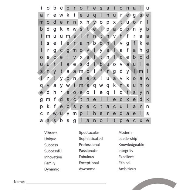 Word Search 2 (answers)