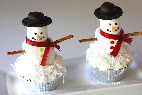 Mr. Snowman Cupcakes (1dz)