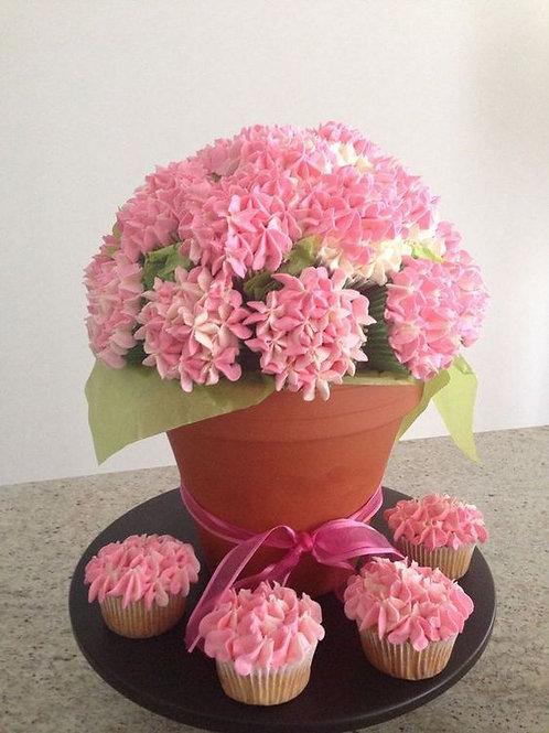 Hydrangea Cupcake Bouquet (1dz)