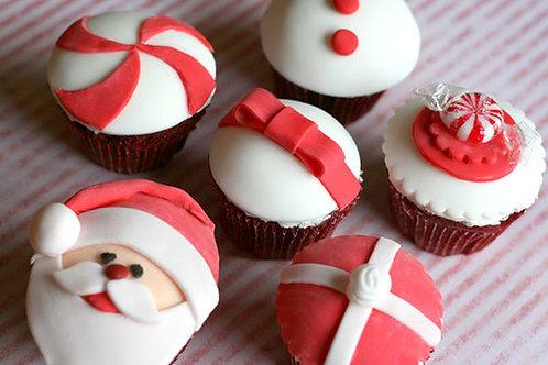 Santa Cupcakes (1dz)
