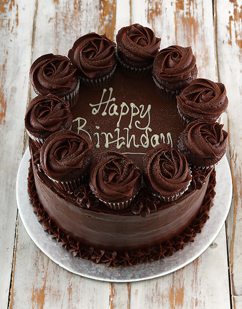 Chocolate Lovers Will Go Crazy When Presented With This Decadent Birthday Cake Is Covered Creamy Icing And Then