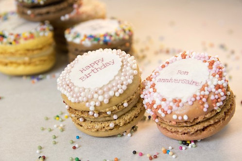 Happy Birthday Macarons (1Dz)