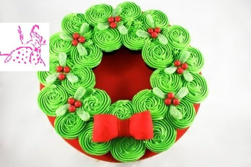 Holiday Wreath Cupcakes (2dz)