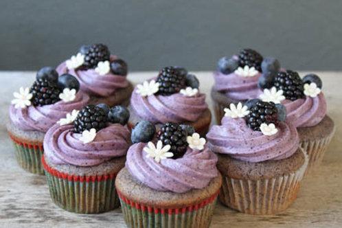 Blackberry-Blueberry Cupcakes (1Dz)