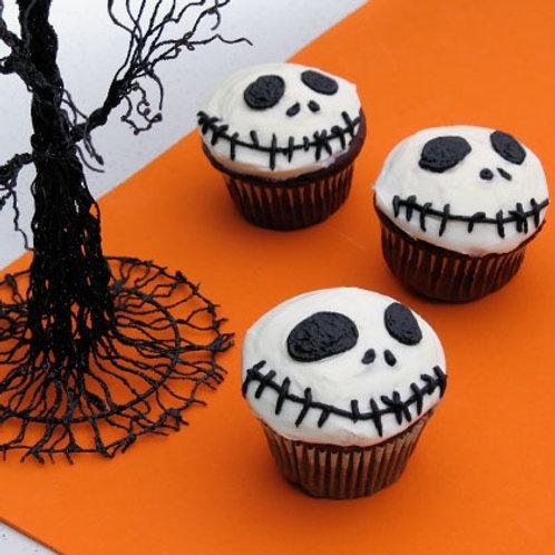 Jack-Skellington Halloween Cupcakes