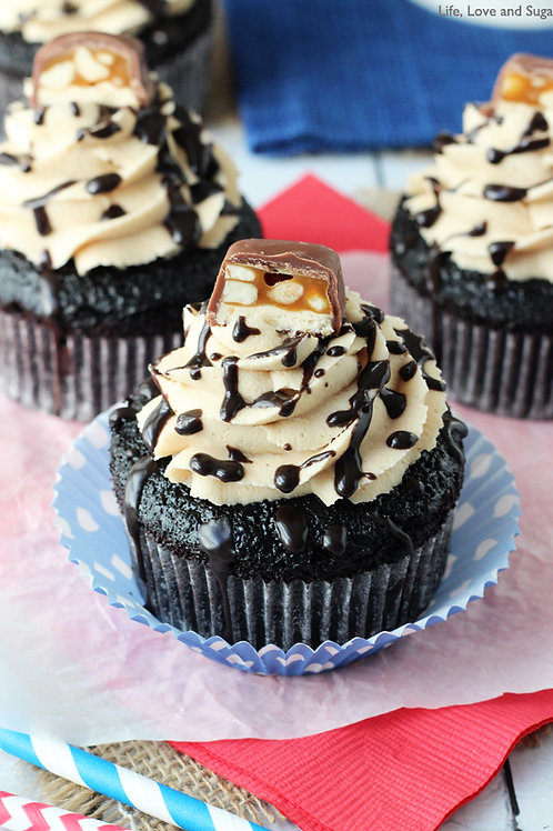 Snickers Cupcakes (1dz)