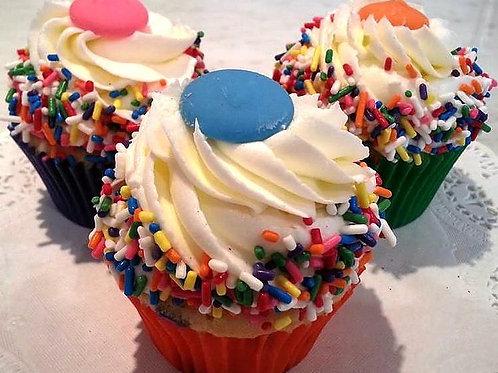 Vanilla SprinkleBirthday Cupcake (1dz)