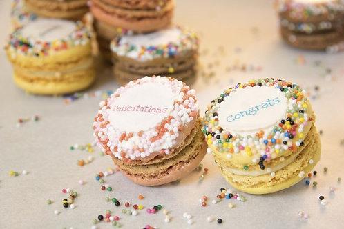 Congrats Macarons (1Dz)