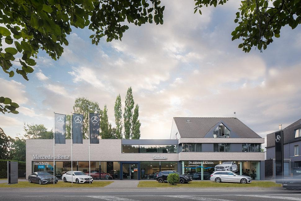 architectuurfotografie showroom Mechelen