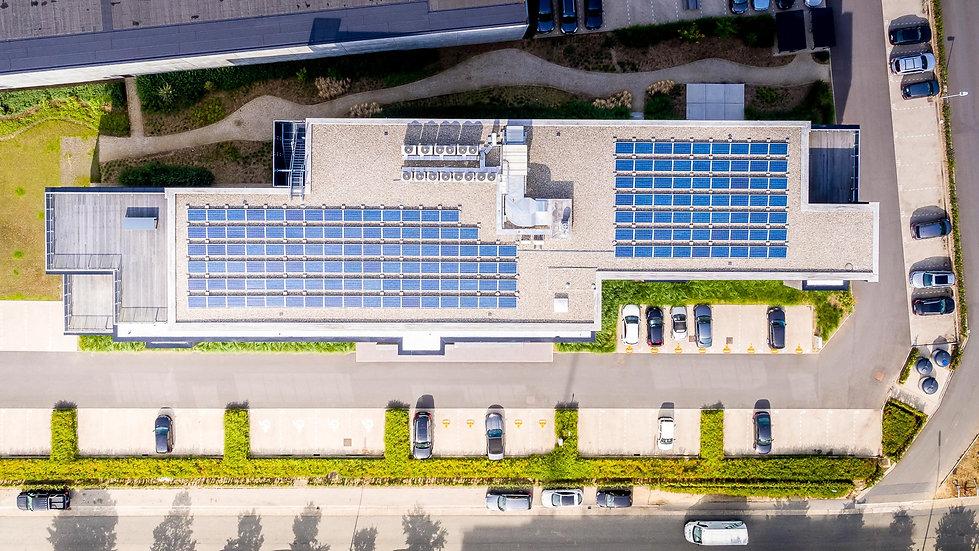 Architectuurfotografie Mechelen drone