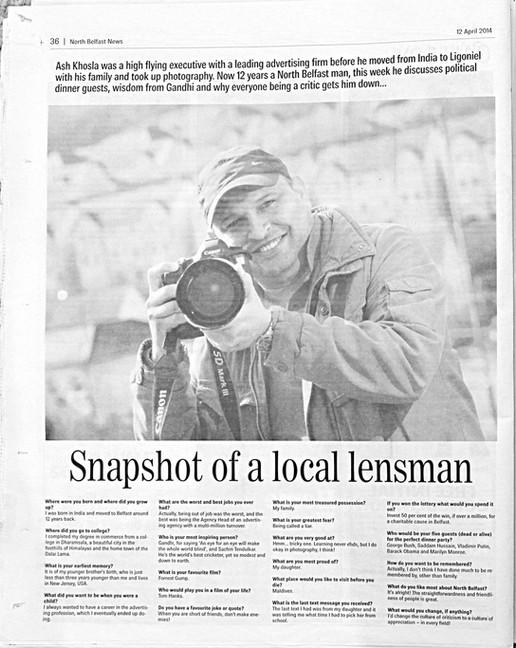 award winning photographer belfast