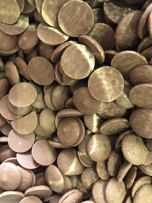 Organic chocolate buttons - milk (100g)