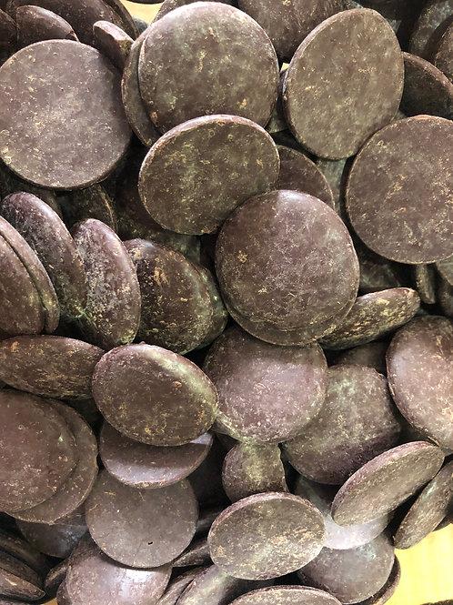 Organic chocolate buttons - dark 73% (100g)