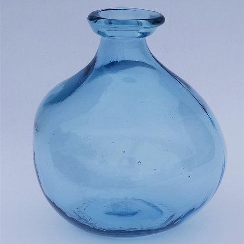 Recycled glass vase - light blue