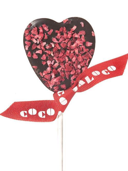 Chocolate heart lollipop - dark