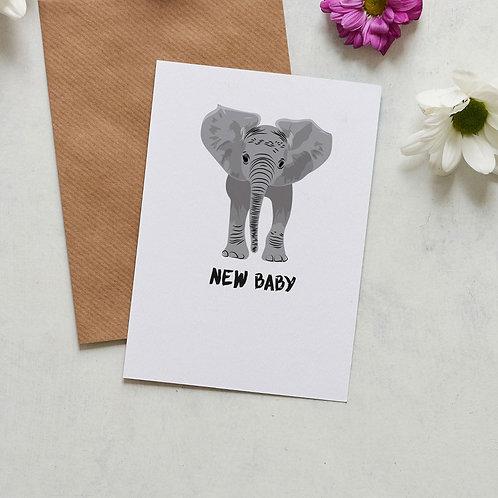 New baby elephant card