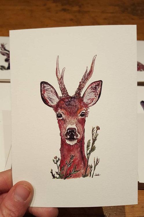 """""""Deer"""" postcard"""