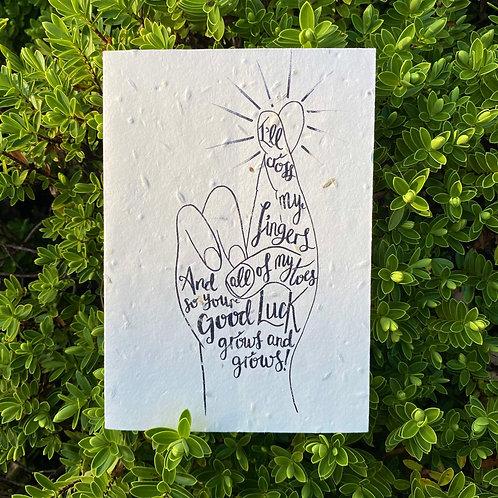 Good luck plantable card