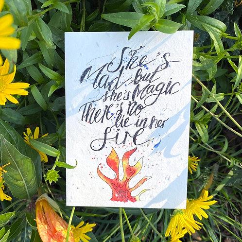 Mad but magic plantable card