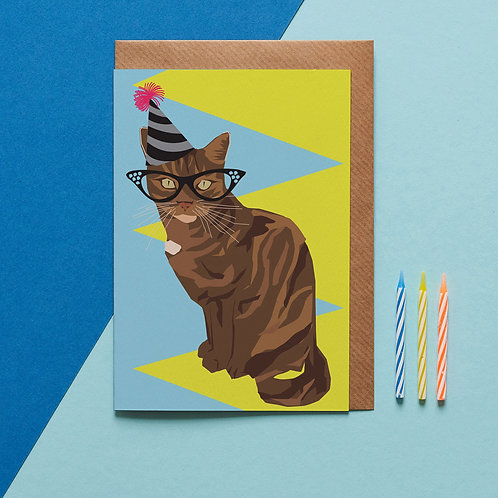 Peaches the cat card