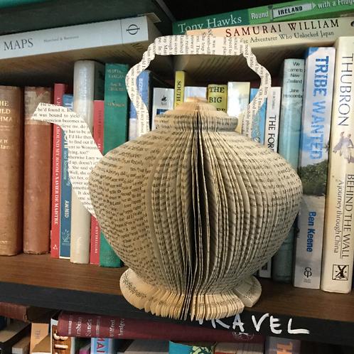 Tea kettle book art
