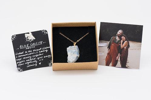 Necklace - blue calcite