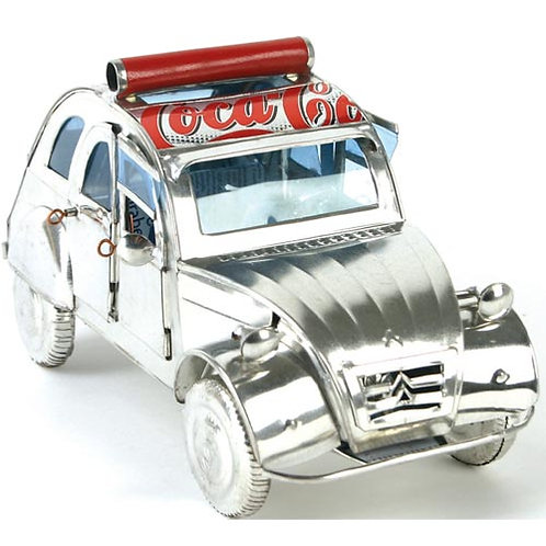2CV car made from recycled cans