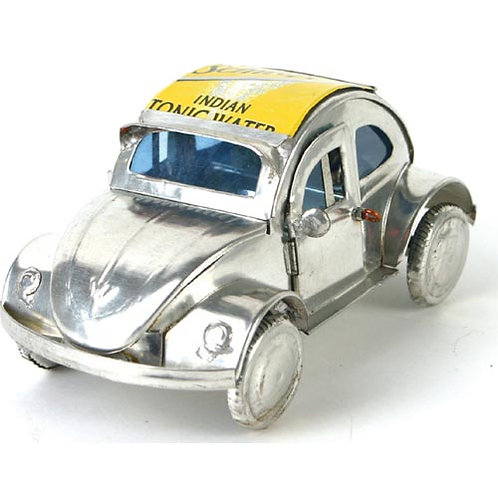 VW beetle made from recycled cans