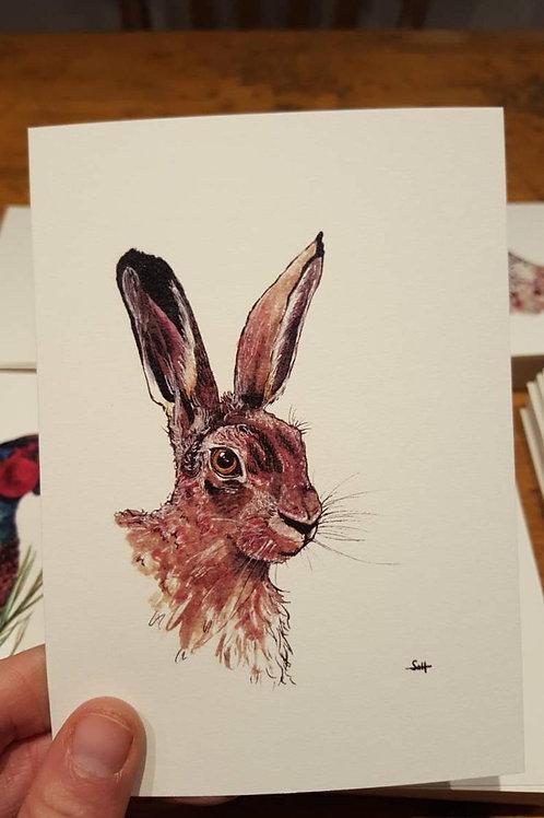 """Hare"" postcard"