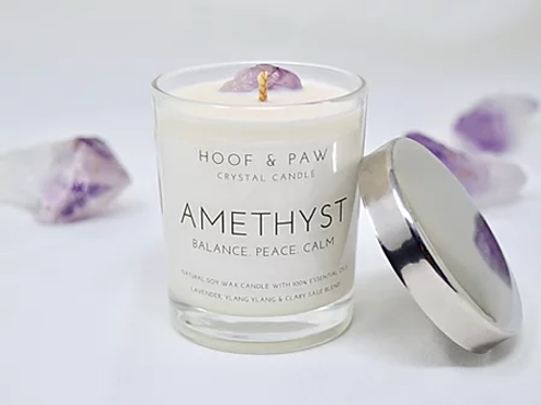 Hoof & Paw amethyst candle