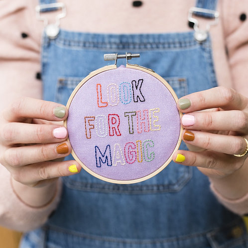 """""""Look For The Magic"""" embroidery kit"""