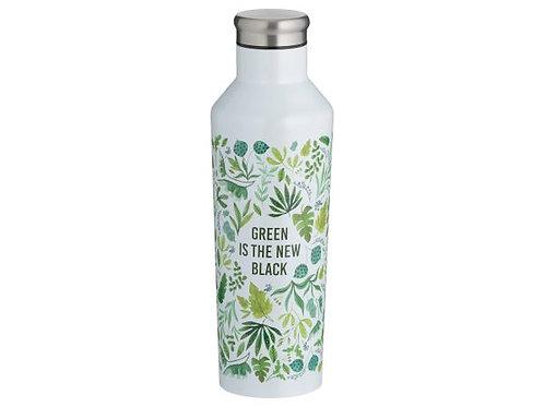 Green is the new black steel bottle