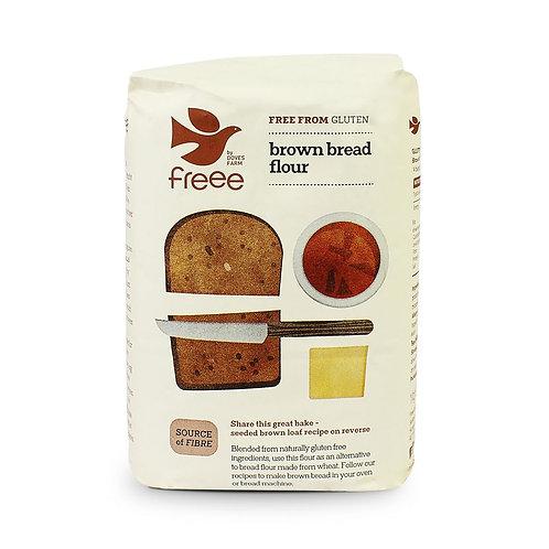 Gluten free organic brown bread flour (pre-packed 1kg)