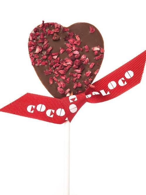 Chocolate heart lollipop - milk