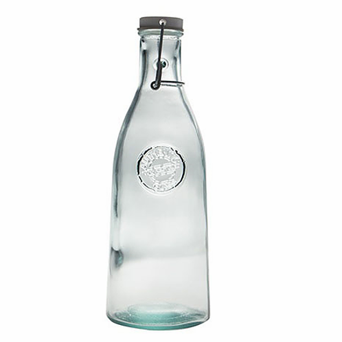 Recycled glass bottle 1L