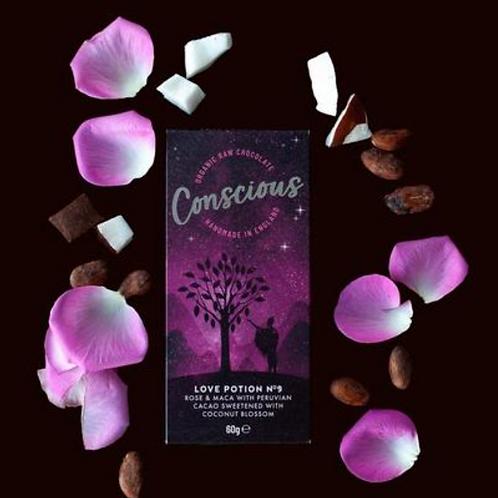 Conscious raw organic chocolate - Love potion no.9 (60g)