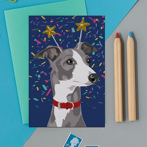 Nelson the whippet card