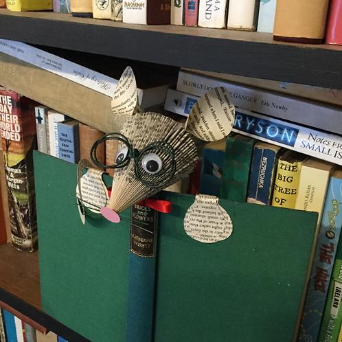 Professor mouse book art