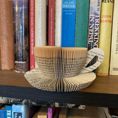 Cup & saucer book art