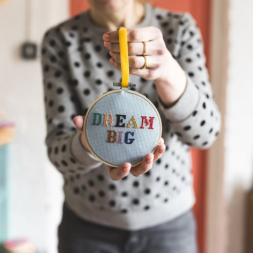 """Dream Big"" cross stitch kit"
