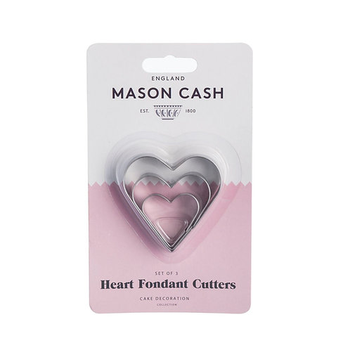Heart cookie cutters (set of 3)