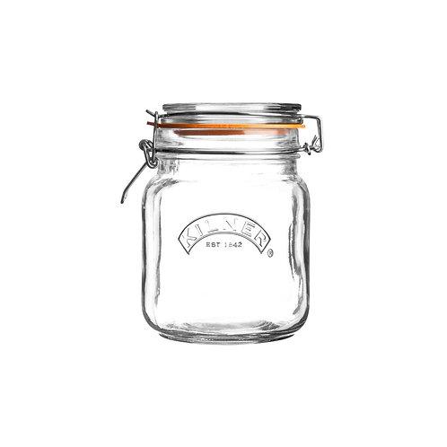 Kilner square clip top jar