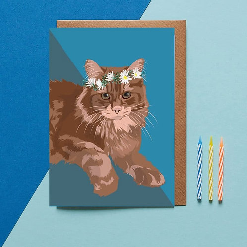 Whiskey the cat card