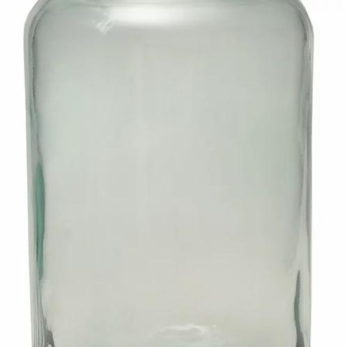 Recycled glass hurricane storage jar - large