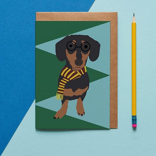 Stephan the sausage dog card