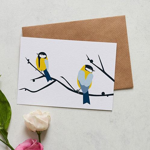 Juneberry bird card