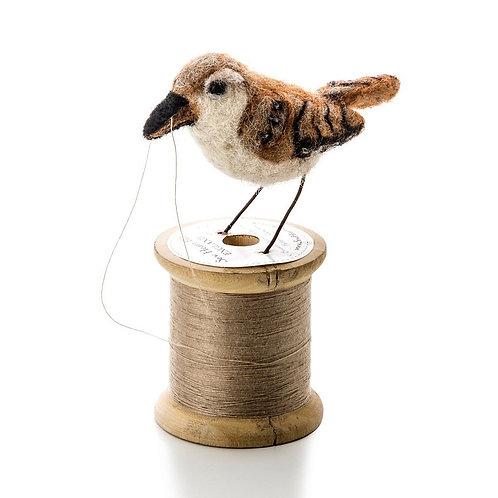 Bird on a bobbin - wren