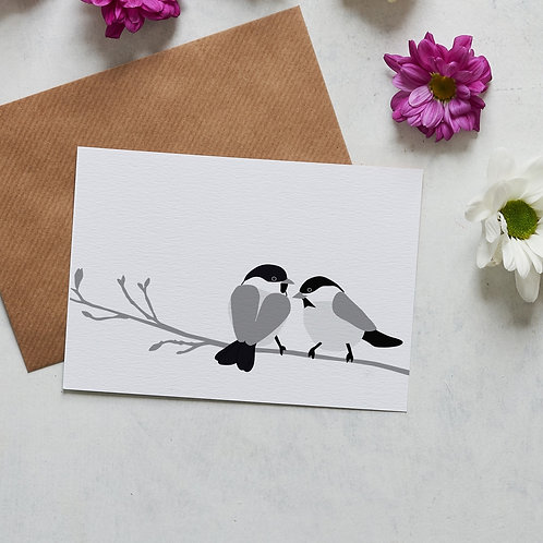 Willow tit card